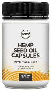 Essential Hemp Hemp Seed Oil with Tumeric Capsules 100 softgel caps