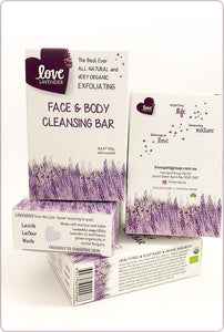 Free Spirit Love Lavender Face and Body Cleansing Bar 100g
