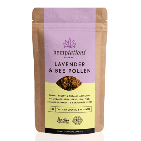 Hemptations Lavender and Bee Pollen 200g