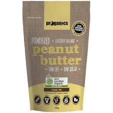 Proganics Powdered Peanut Butter Chocolate 150g