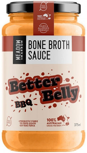 Meadow and Marrow Bone Broth Sauce Better Belly BBQ 375ml