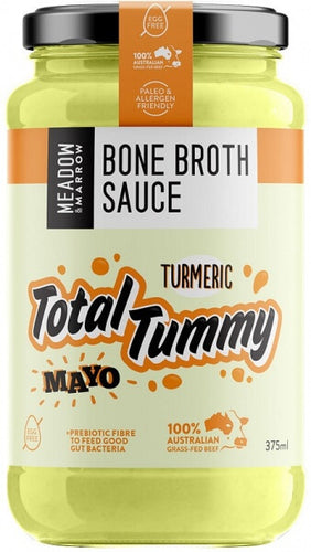 Meadow and Marrow Bone Broth Sauce Total Tummy Tumeric Mayo 375ml