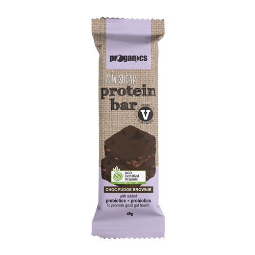 Proganics Low Sugar Protein Bar - Choc Fudge Brownie 45g