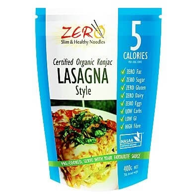 Zero Slim and Healthy Konjac Lasagna Style 400g