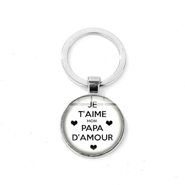 """I Love Daddy This Much"" Charm Keychain for Father Gift Men Jewelry High Quality Metal Car Key Chain Warm Family Souvenir"