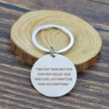 ..... I Just Want To Be Your Last Everything Romantic Love Letters Keychain Couples Key Chain Girlfriend Boyfriend Gifts