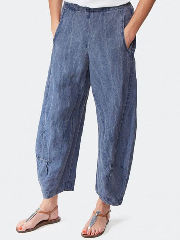 Solid Loose Casual Pants