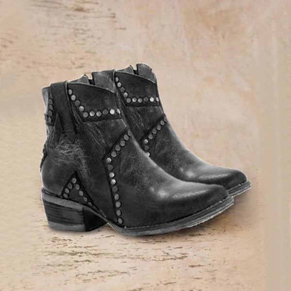 Kitten Heel Spring/fall Leather Boots