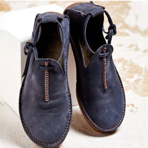 Super Comfort Round Toe Casual Lace-Up Flat & Loafers