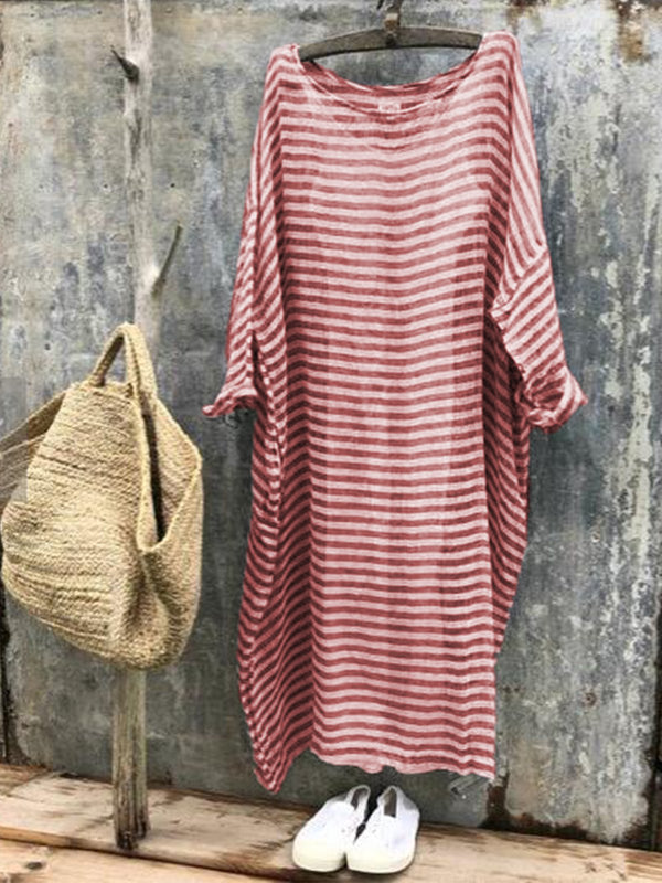 Simple Basic Cotton Women Dresses