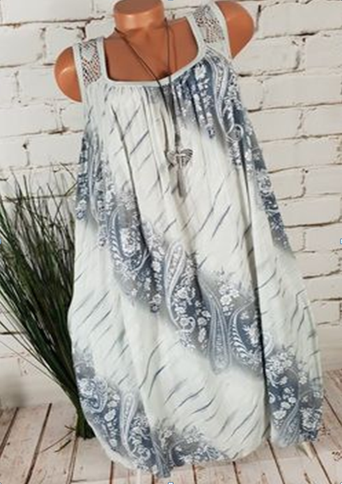 Patchwork Plus Size Beach Women Summer Dresses