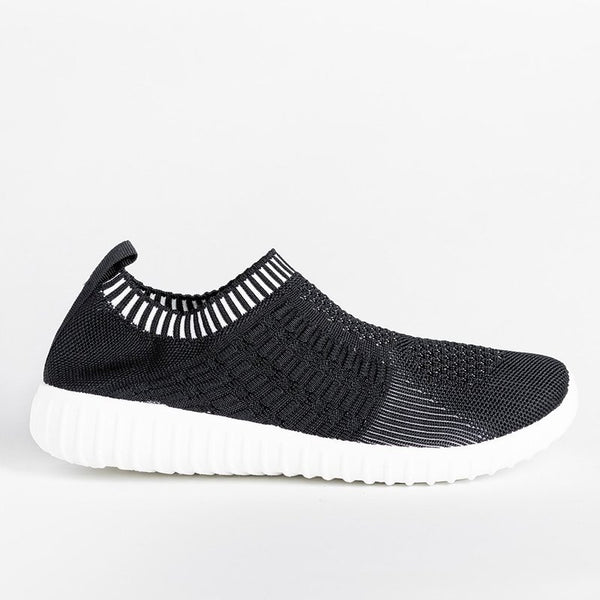 Elastic Athletic Slip-On Sneakers