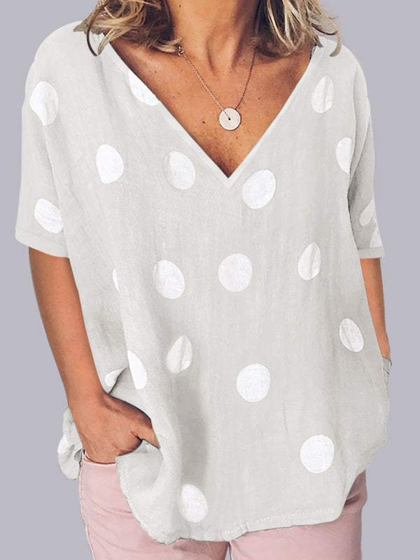 Polka Dots Short Sleeve Shirts
