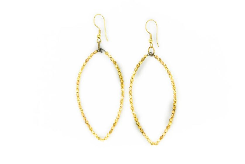 Badaami Gold Colored Earrings