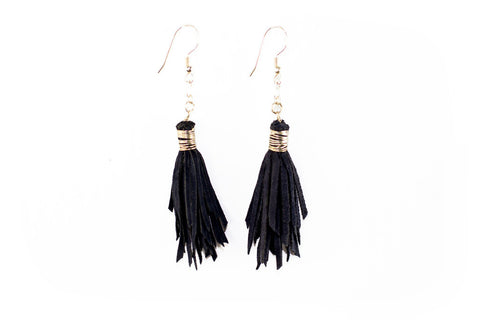 Leather Tassel Earings