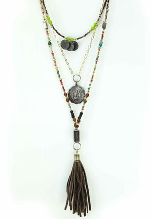 Open image in slideshow, Boho Tassel Necklace
