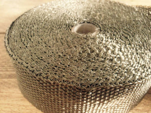 10Mtr x 2MM Titanium Color Exhaust Wrap