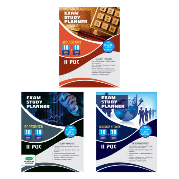 10+10 2ND PUC COMMERCE (ACC, BUS, ECO) - Combo (Pack of 3)