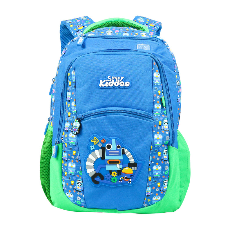 Smily Dual Color Backpack Blue