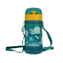 Fancy Narwhale water bottle green