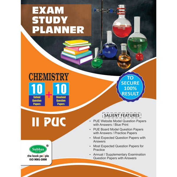10+10 EXAM STUDY PLANNER CHEMISTRY 2ND PUC