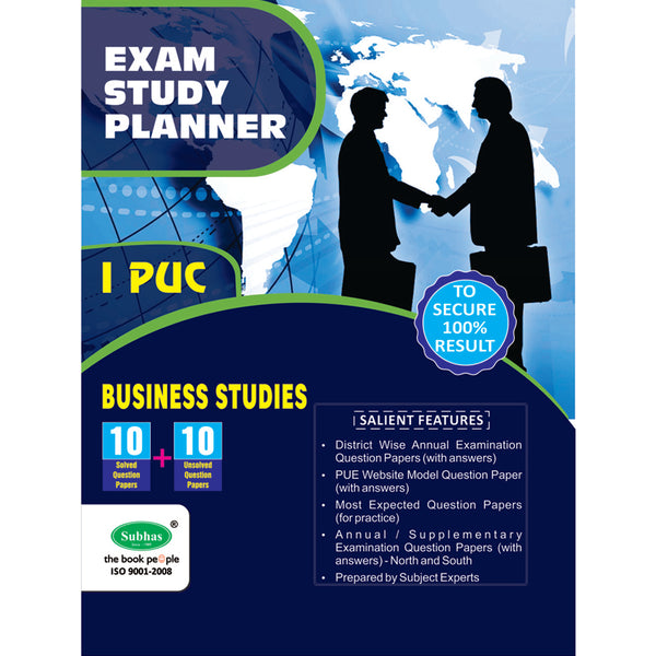 10+10 EXAM STUDY PLANNER BUSINESS STUDIES 1ST PUC