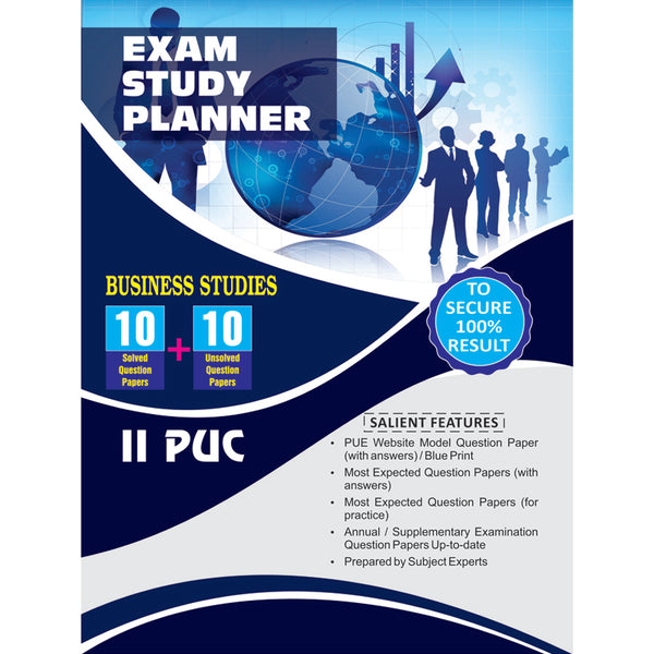 10+10 EXAM STUDY PLANNER BUSINESS STUDIES 2ND PUC