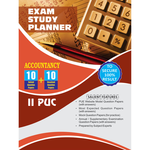 10+10 EXAM STUDY PLANNER ACCOUNTANCY 2ND PUC