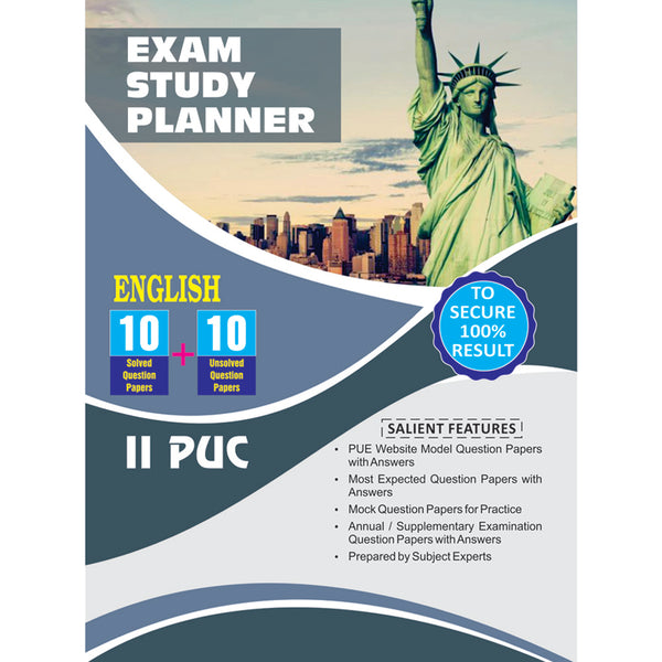 10+10 EXAM STUDY PLANNER ENGLISH 2ND PUC