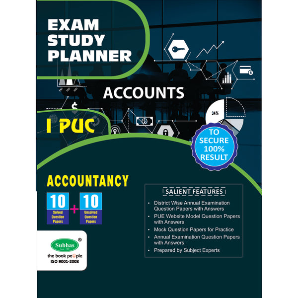 10+10 EXAM STUDY PLANNER ACCOUNTANCY 1ST PUC