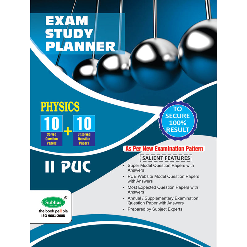 10+10 EXAM STUDY PLANNER PHYSICS 2ND PUC
