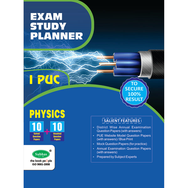 10+10 EXAM STUDY PLANNER PHYSICS 1ST PUC
