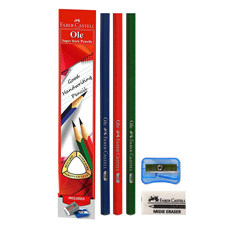 FABER CASTELL OLE GRIP PENCILS PCK 10