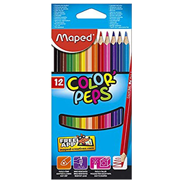 MAPED - COLOUR PENCIL BOX - 12 SHADES - 183212