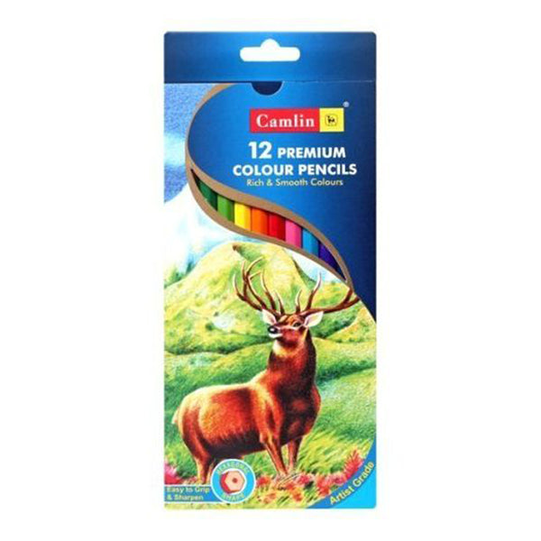 CAMLIN - PREMIUM COLOUR PENCILS - 12
