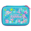 Smily Single Compartment Pencil Case Light Blue
