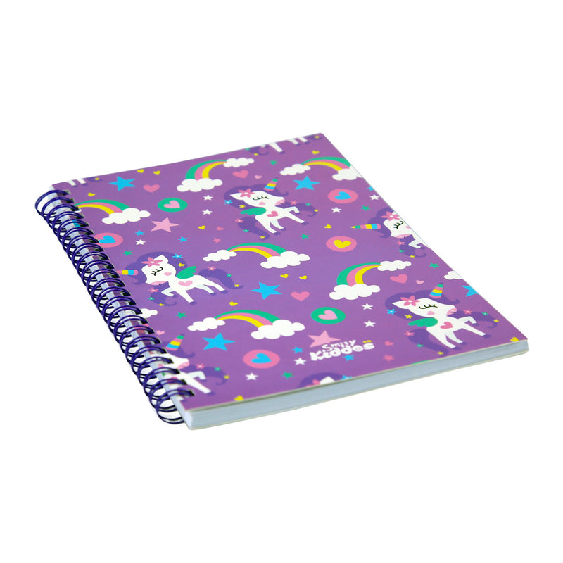 Smily A5 Lined Notebook Purple
