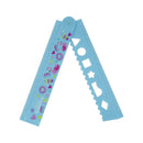 Smily Fold Up Ruler-L.Blue