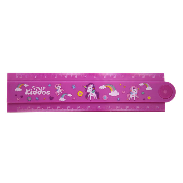 Smily Fold Up Ruler-Purple