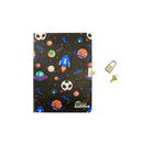 Smily Lockable Notebook Black