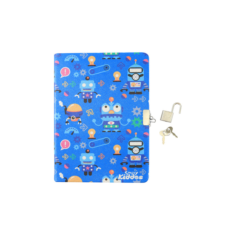 Smily Lockable Notebook Blue