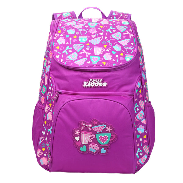 "Smily ""U"" Shape Backpack Purple"