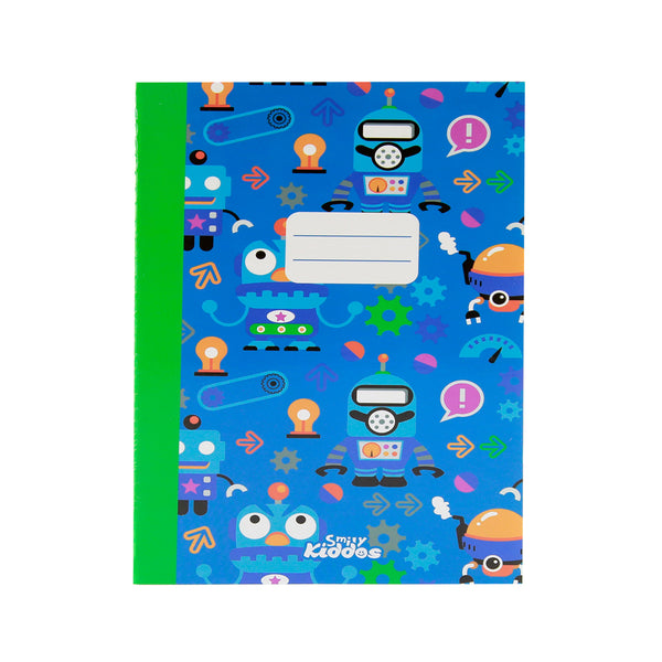 Smily A5 Lined Exercise Notebook Blue