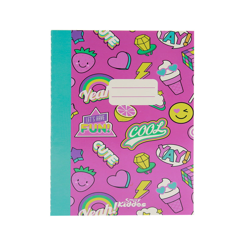 Smily A5 Lined Exercise Notebook Pink