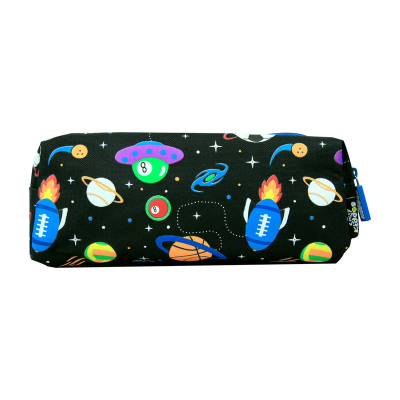 Smily Twin Zipper Pencil Pouch Black