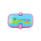 Smily Unicorn Lunch Box Light Blue