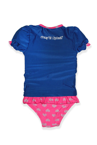 Small Girls Whale Rash Guard Set