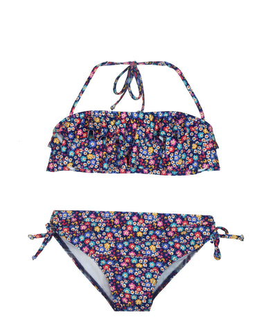 Girls Mini Flower Bandeau Bikini