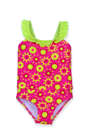 Small Girls Pink Sun Tankini