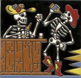 Day of the Dead tile skeletons drinking in bar